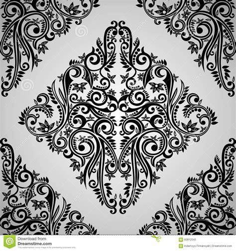 Batik Black Abstract batik abstract swirl on white shape from yogyakarta