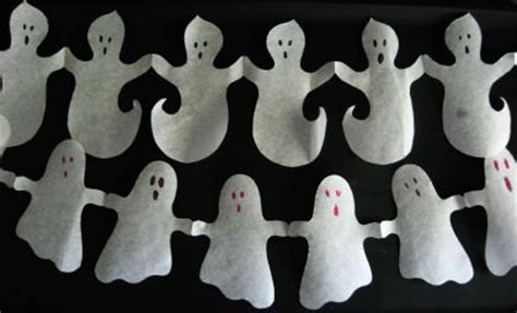 How To Make Paper Ghost For - craft paper ghost garlands alpha
