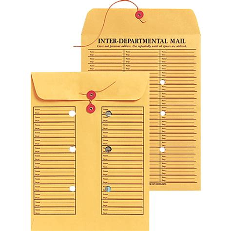 100 interoffice envelope template spr01374 sparco