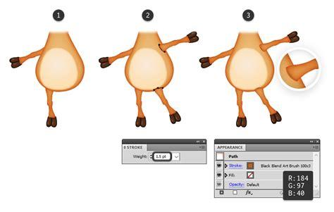 tutorial illustrator membuat karakter kartun cara membuat karakter kartun rusa di adobe illustrator
