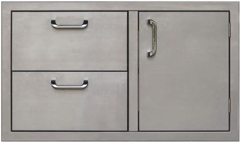 Stainless Steel Bbq Doors by Pcm Bbq Island 36 226 Door And Drawer Combo Unit Stainless Steel