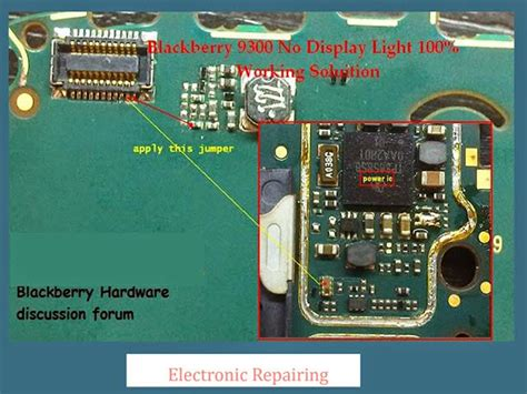 Lcd Bb 8520 blackberry curve 9300 lcd display ic solution jumper