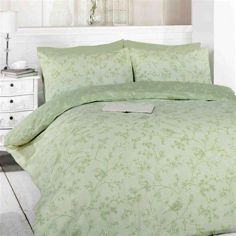 Green Bedding Sets Uk Toile Green Birds Duvet Cover Set Tonys Textiles