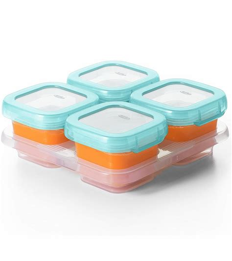 Freezer Aqua oxo tot baby blocks freezer storage containers 4 oz aqua