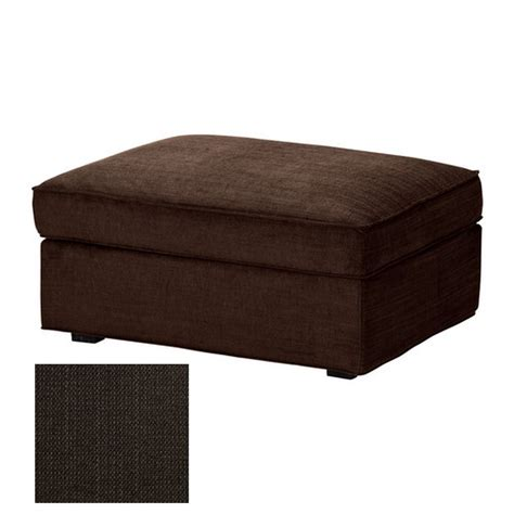 ikea kivik footstool slipcover ottoman cover tullinge dark brown bezug housse