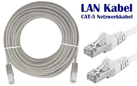 Kabel Lan Cat5e 10 Meter lan netzwerk kabel cat 5e 10 meter patchkabel f 252 r