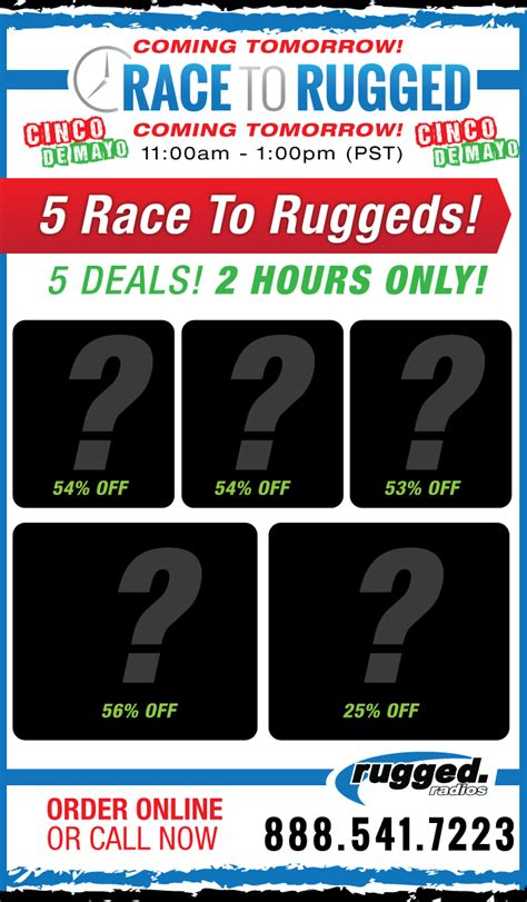 Rugged Warehouse Hours by Race To Rugged Sales Page 7