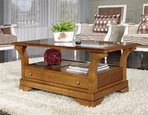 table basse constance en merisier massif de style louis