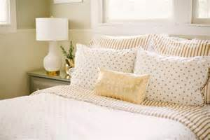 Gold And White Bedding by A Southern Gold White Bedding