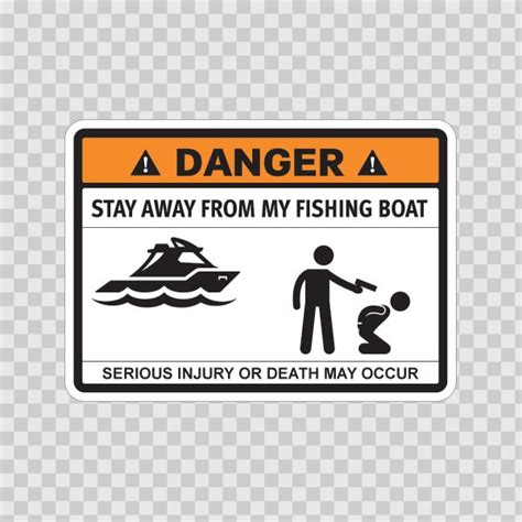 funny fishing boat decals printed vinyl funny stay away from my fishing boat