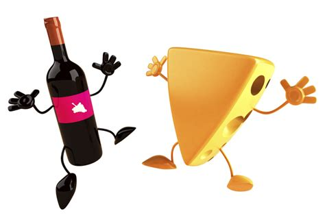 cartoon wine and cheese cheese infused with wine