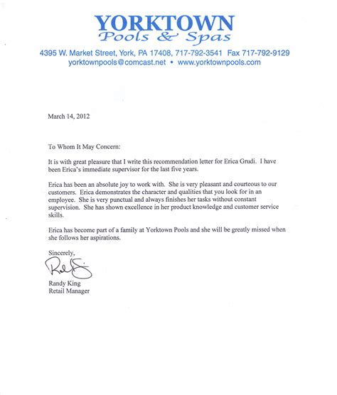 Recommendation Letter For Retail Tips For Writing A Letter Of Recommendation