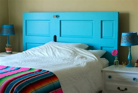 make a headboard out of a door from front door to diy headboard my socal d