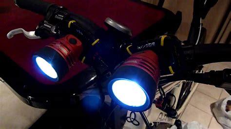 mountain bike lights mountain bike self made cree led lights