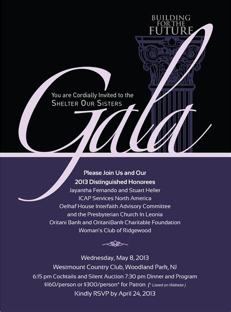 gala themes names gala invite for a local women s shelter agm pinterest
