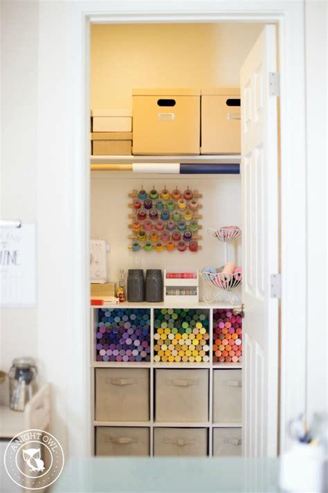 Craft Room Organizer Systems by Easy Craft Room Organization Ideas A Owl