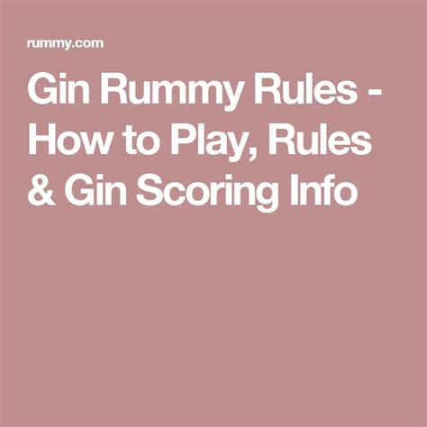 25 best ideas about gin rummy on all card