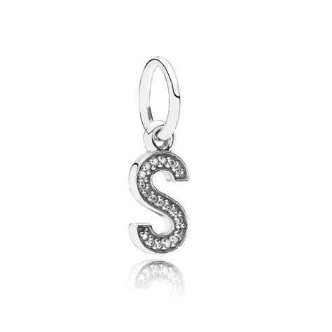 letter charm pandora letter s pendant charm 791331cz pandora from