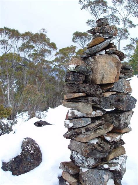 photo of stone cairn free australian stock images