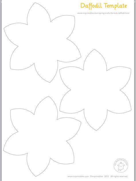 flower template for preschool αποτέλεσμα εικόνας για daffodils flowers clipart black and