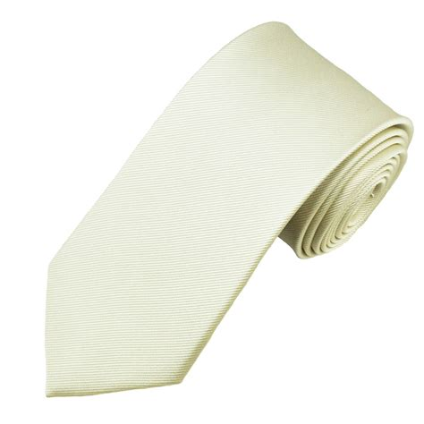 plain ivory silk tie from ties planet uk