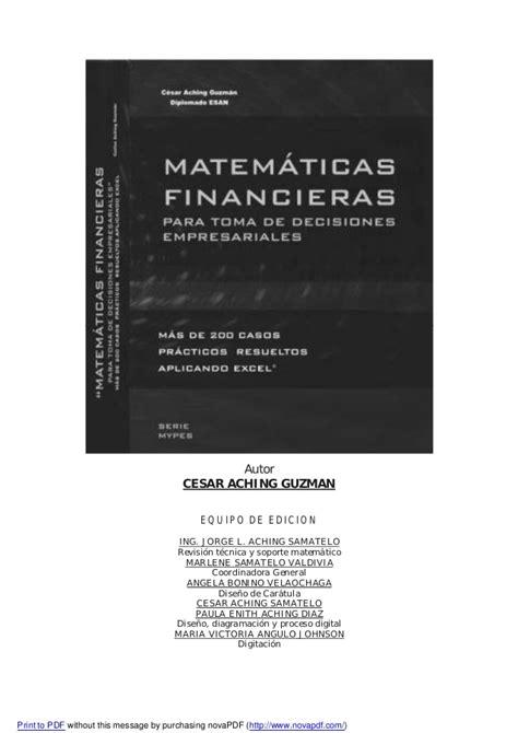 imagenes de matematica finaciera matem 225 ticas financieras para la toma de decisiones