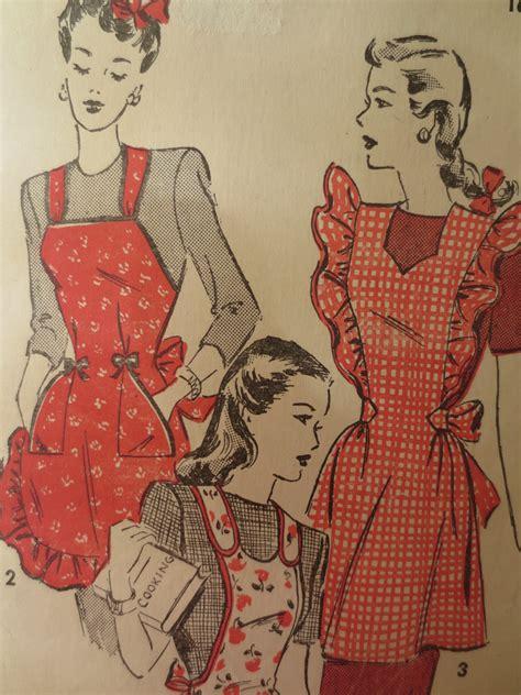 sewing vintage apron vintage advance 4663 sewing pattern 1940s apron pattern
