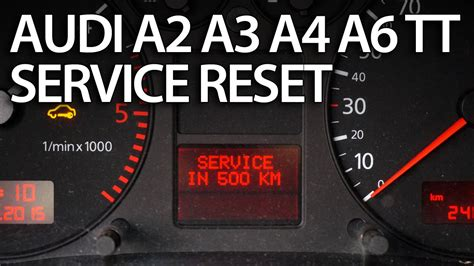 Audi A4 B5 Steuerger T Reset by How To Reset Service Interval In Audi A2 A3 A4 A6 Tt