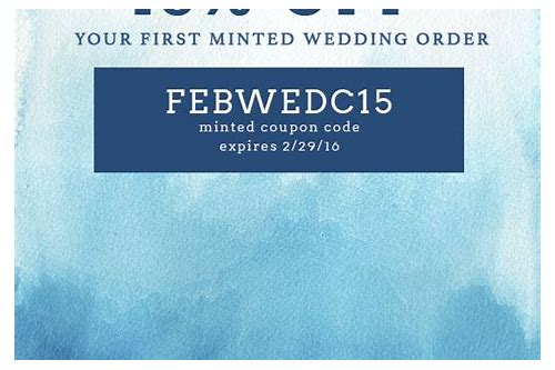 minted coupon code wedding
