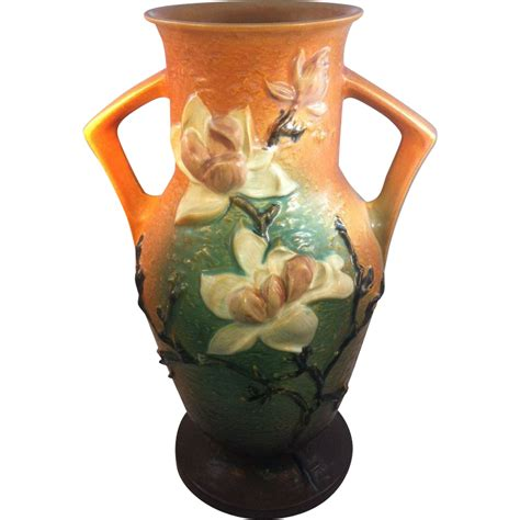 roseville quot magnolia quot vase from sterlingsage on ruby