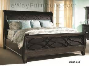american federal distressed black sleigh king wood bedroom