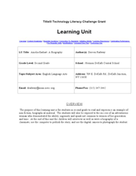 biography lesson plan 2nd grade amelia earhart a biography 2nd grade lesson plan lesson