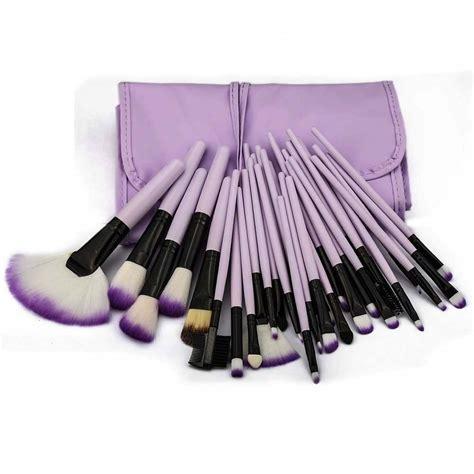 Cosmetic Make Up Brush Set 20pcs Purple 32pc purple professional soft cosmetic eyebrow shadow makeup brush set bag ebay