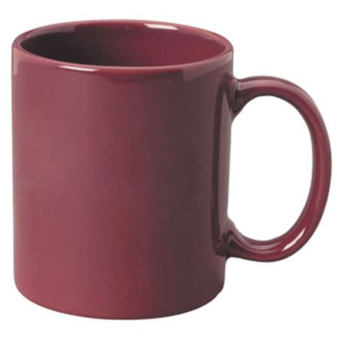 11 oz c handle coffee mug   maroon [10310] : Splendids Dinnerware, Wholesale Dinnerware and