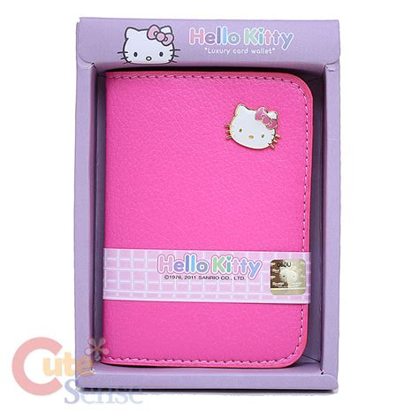 Hello Kitty Gift Card Holder - sanrio hello kitty card holder wallet leather pink