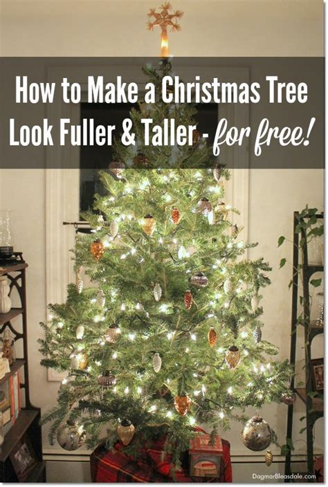 how to make a christmas tree look fuller taller for