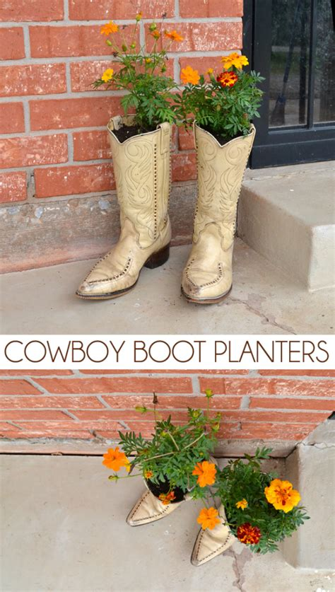 Cowboy Boot Planters by 9 Ways To Use Shoes As Planters