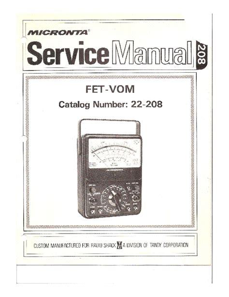 fet transistor manual micronta radio schack 22 208 fet vom voltohm mero sm service manual schematics eeprom