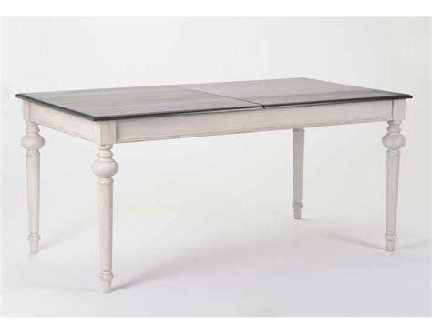 table 160 cm grise avec rallonge amadeus