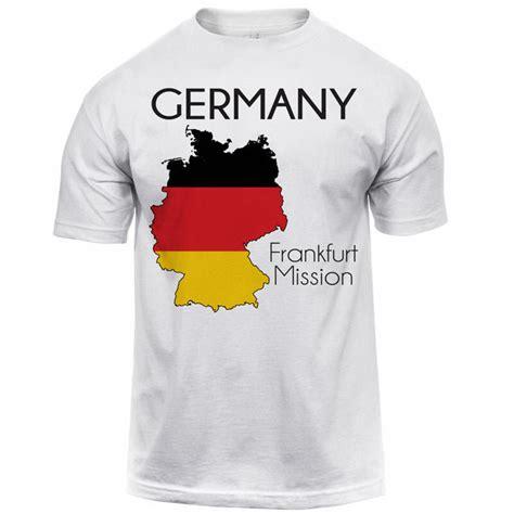 Germany T Shirt germany frankfurt map mission shirt s