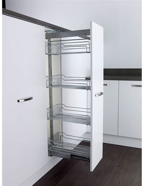 kesseböhmer base cabinet pull out storage klf300fesc kessebohmer tall pull out larder basket storage