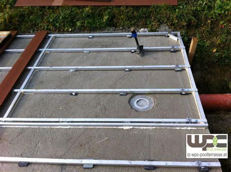 Terrasse Unterkonstruktion Alu by Bilder Wpc Aluminium Alu Unterkonstruktion F 252 R