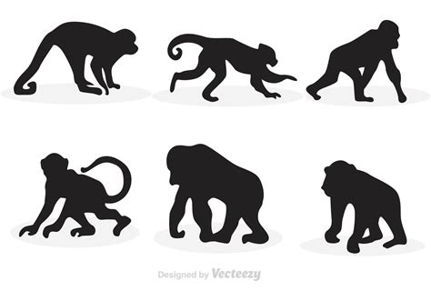silhouette vector monkey silhouette vectors download free vector art