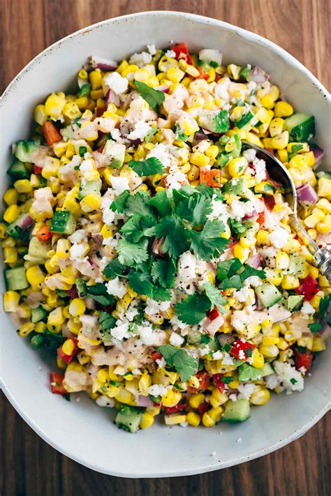 Lime Green Kitchen Ideas mexican street corn salad with chipotle dressing jessica