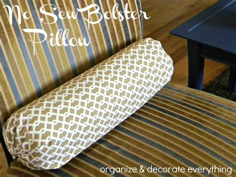 No Sew Bolster Pillow Cover by No Sew Bolster Pillow Diy