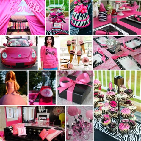 pink and black bridal shower decorations pink black white bridal shower ideas with vintage silhouette of as inspiration