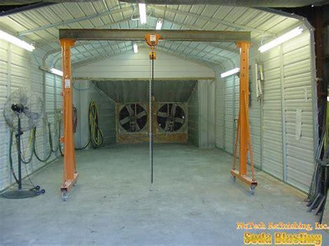 Garage Paint Booth Design nutech refinishing inc jefferson ga sodablasting non toxic