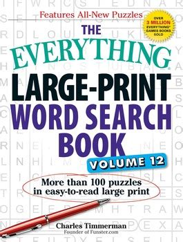 the everything large print tv word search book volume 2 120 must see word searches for tuned inâ tv fans books the everything large print word search book volume 12