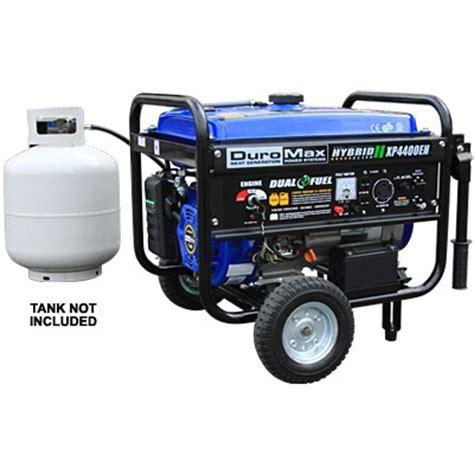duromax bi fuel generator xp4400eh, 4400 watt, propane & gas