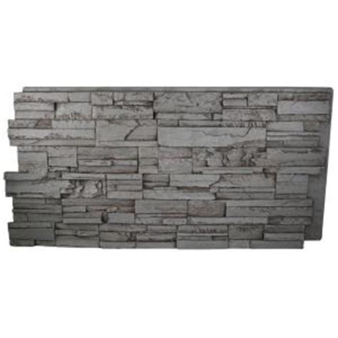 superior building supplies gray rock 24 in x 48 in x 1 1